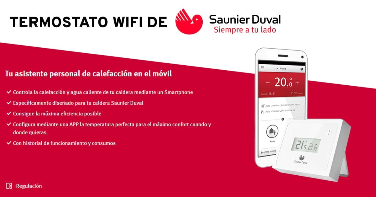 termostato wifi de Saunier Duval
