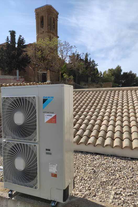 Instalación de Aerotermia de Alta Temperatura en Alcalá del Obispo (Pre Pirineo Aragonés) 6